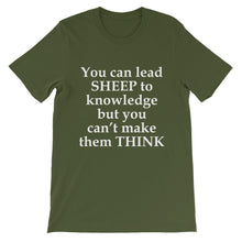 You can lead sheep to knowledge