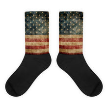 Antique American Flag foot socks