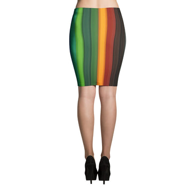 Rainbow Pattern Pencil Skirt