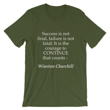 The courage to continue t-shirt