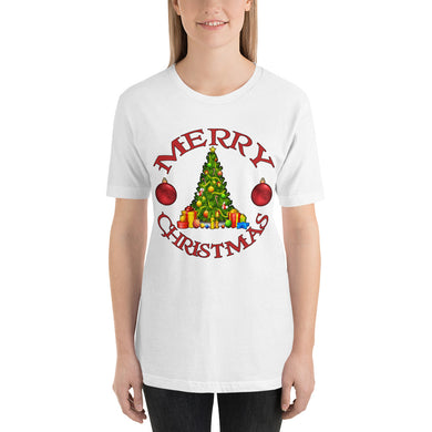 Merry Christmas Tree Short-Sleeve Unisex T-Shirt