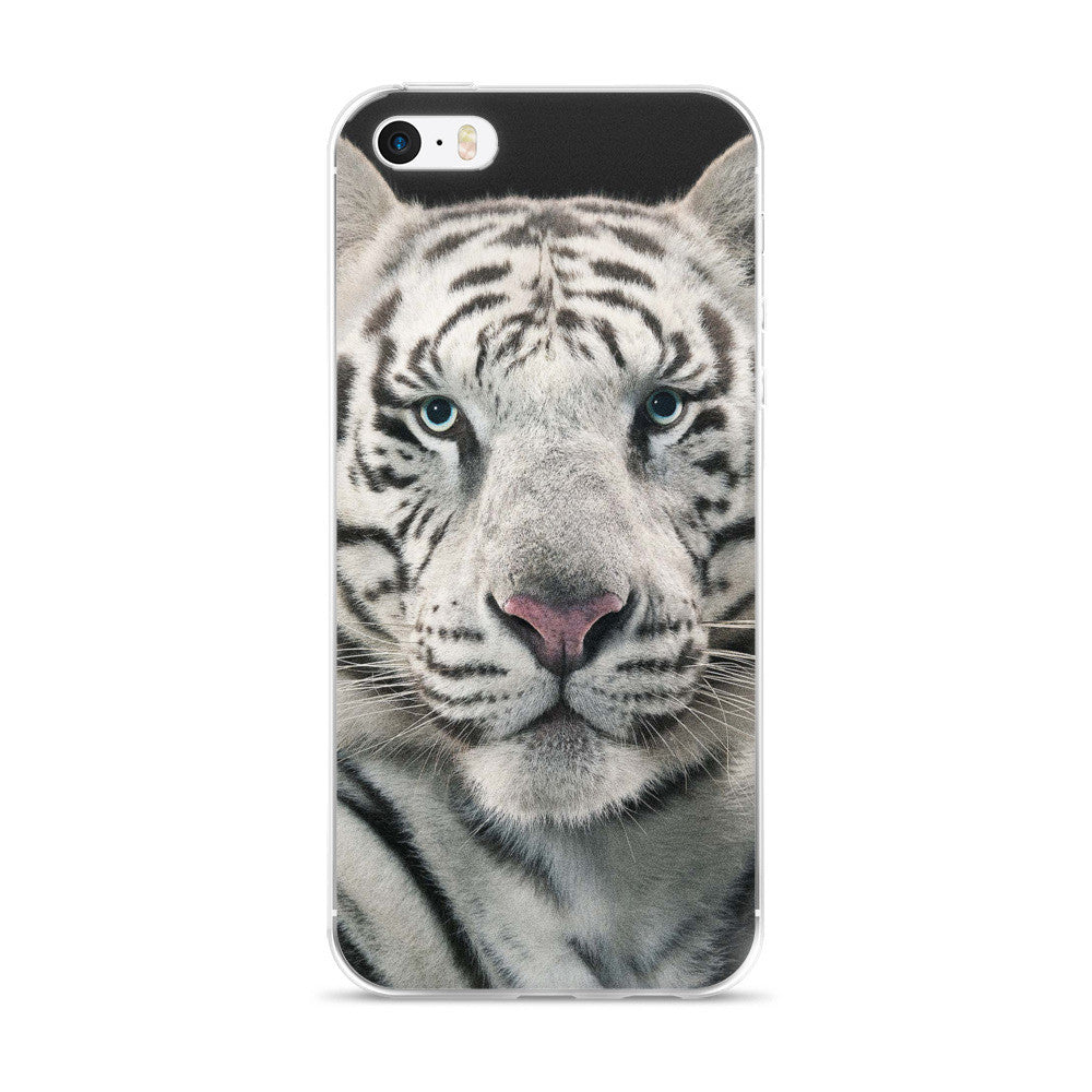 White Tiger iPhone 5/5s/Se, 6/6s, 6/6s Plus Case