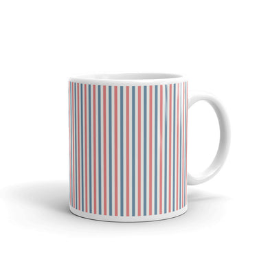 Red, White, and Blue Pattern Mug