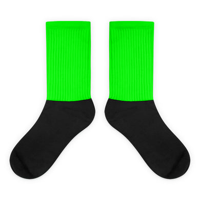 Green foot socks