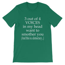 3 out of 4 voices t-shirt