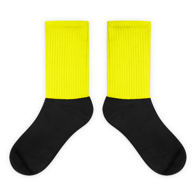 Yellow foot socks
