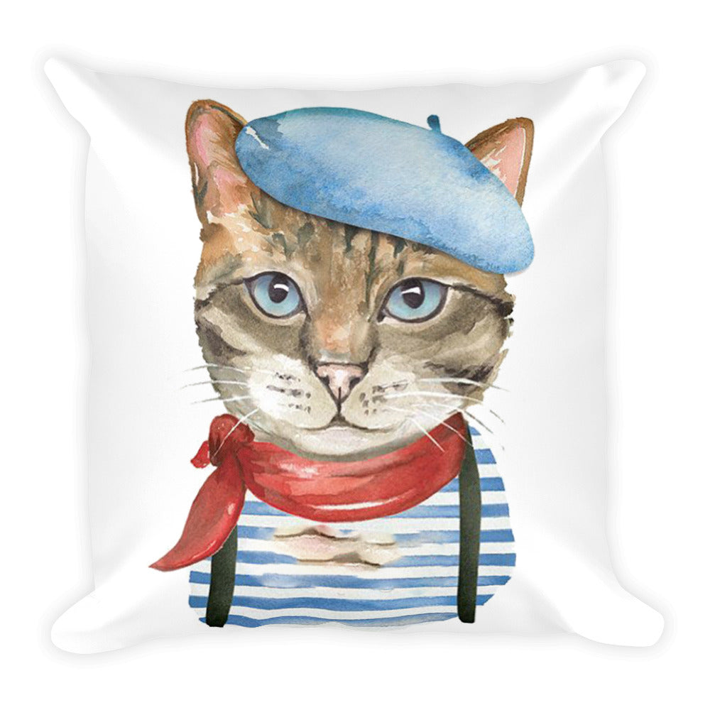Artistic Cat Pillow
