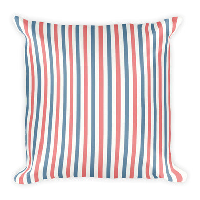 Red, White, and Blue Striped Pillow