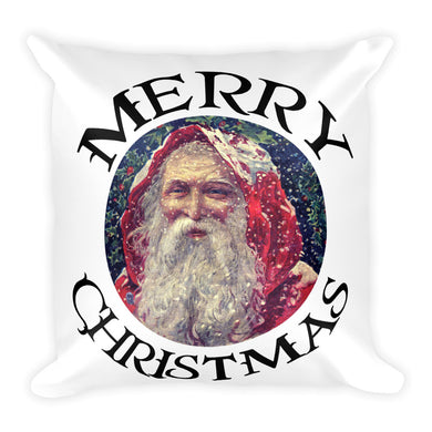 Vintage Santa Claus Square Pillow