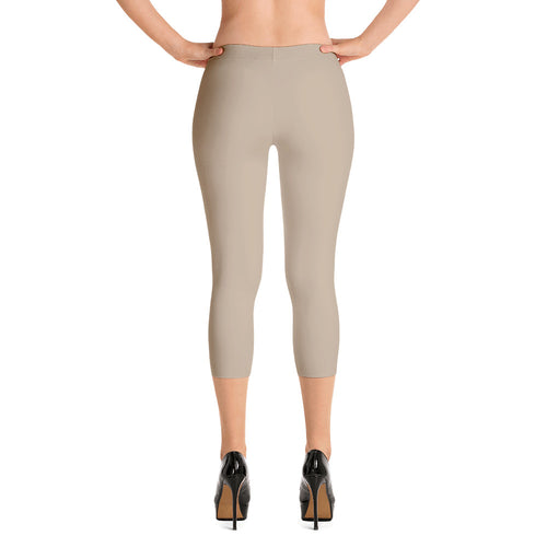 Tan Capri Leggings