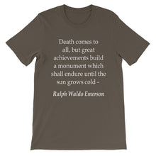 Death comes to all t-shirt