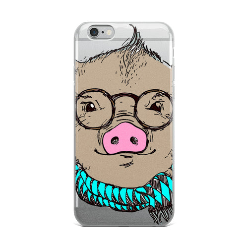 Hipster Pig iPhone Case