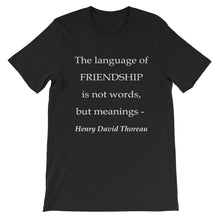 The language of friendship