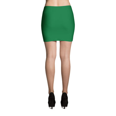 Hunter Green Mini Skirt