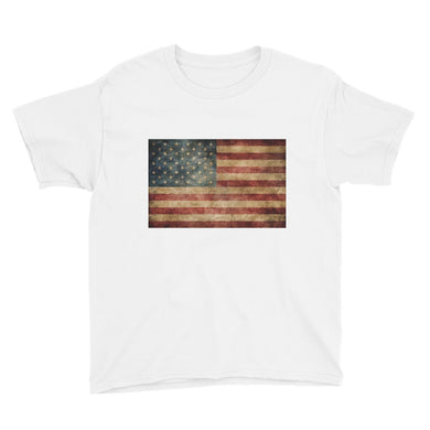 Vintage American Flag Youth Short Sleeve T-Shirt