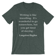 Writing is like travelling