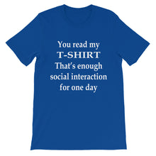 You read my T-Shirt