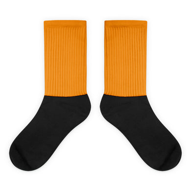 Orange foot socks