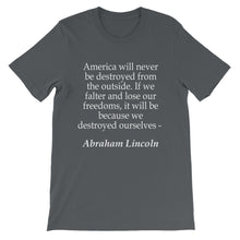 Because we destroyed ourselves t-shirt