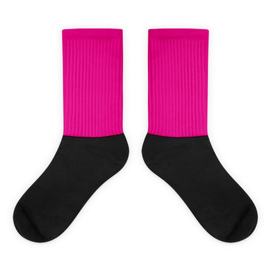 Magenta foot socks