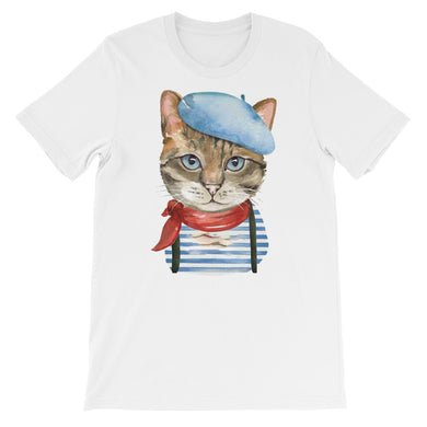 Artistic Cat Short-Sleeve Unisex T-Shirt
