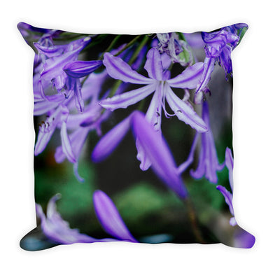 Purple Flowers Pillow