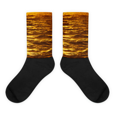 Golden Waves foot socks