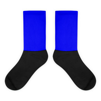 Blue foot socks