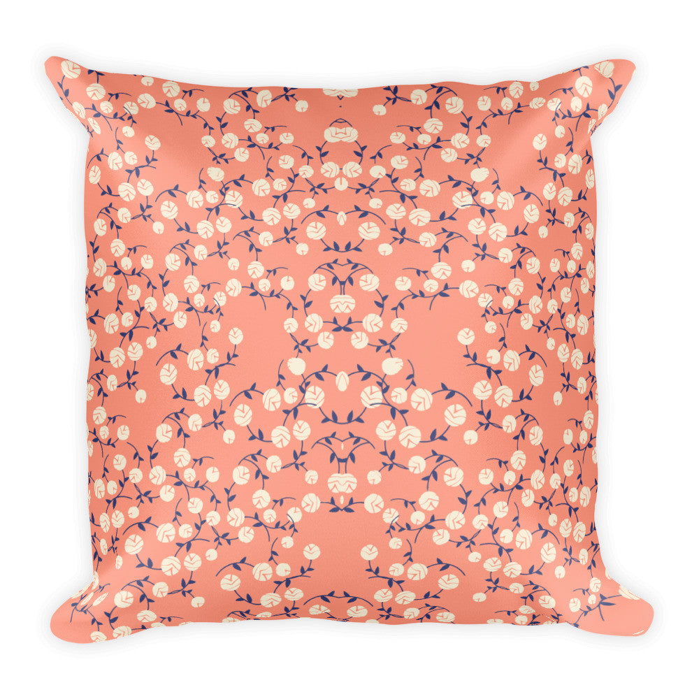 Flower Pattern Pillow