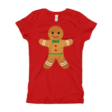 Girl's T-Shirt - Gingerbread Man