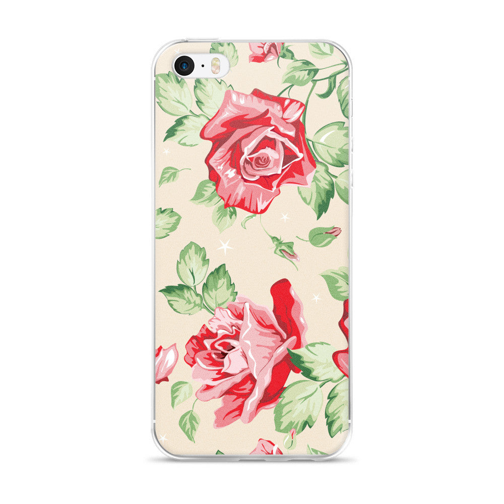 Flower Pattern iPhone 5/5s/Se, 6/6s, 6/6s Plus Case