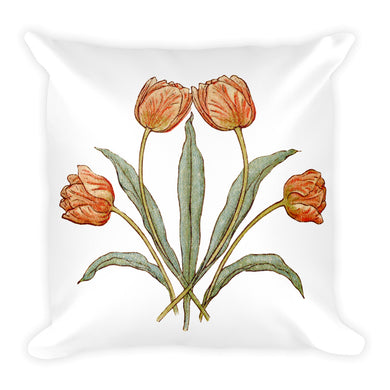 Vintage Tulips Pillow