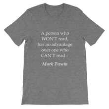 A person who won't read t-shirt