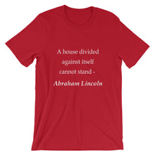 A house divided t-shirt