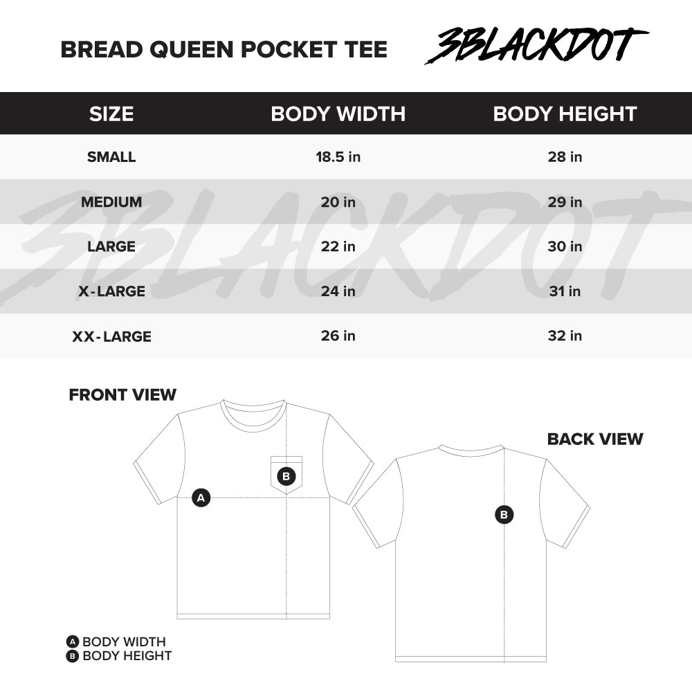 LAUREN Z SIDE® | BREAD QUEEN PIGMENT DYED POCKET TEE (SHADOW) LIMITED EDITION