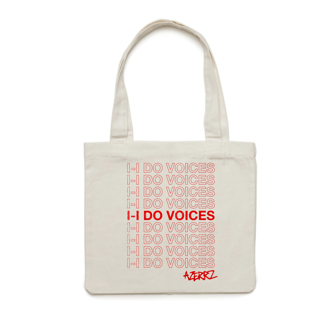 AZERRZ® | I DO VOICES TOTE BAG (CREAM) LIMITED EDITION