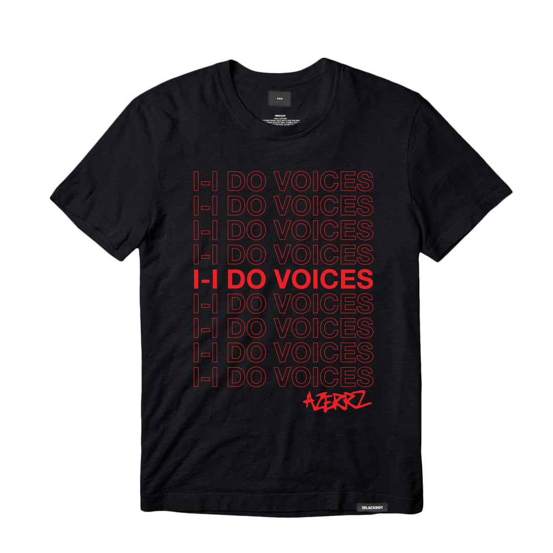AZERRZ® | I DO VOICES TEE (BLACK)