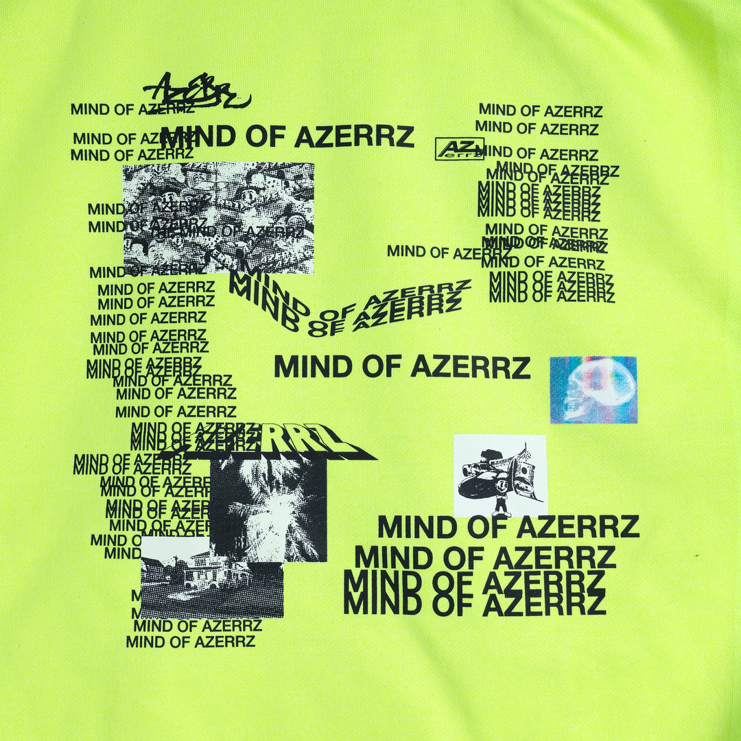 AZERRZ® | MIXTAPE HOODIE (SAFETY YELLOW) LIMITED EDITION