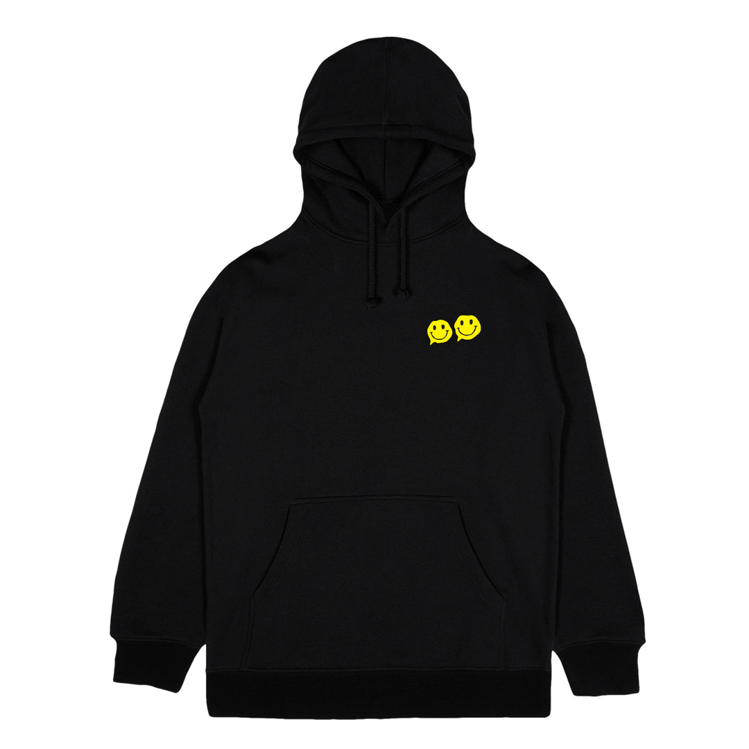 AZERRZ® | SMILEY FACE HOODIE (BLACK) LIMITED EDITION