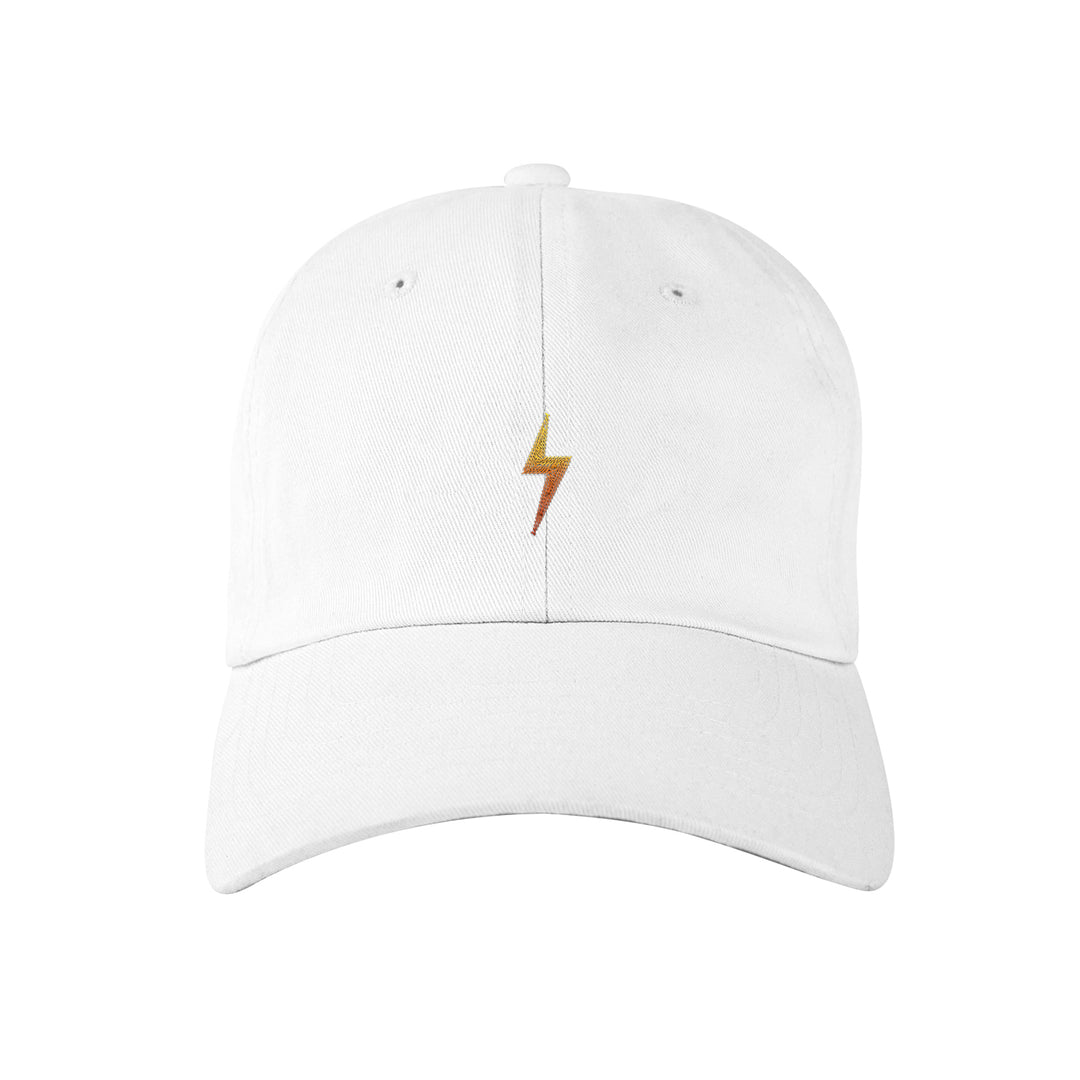 CHIMNEYSWIFT11® | BOLT DAD HAT (WHITE)