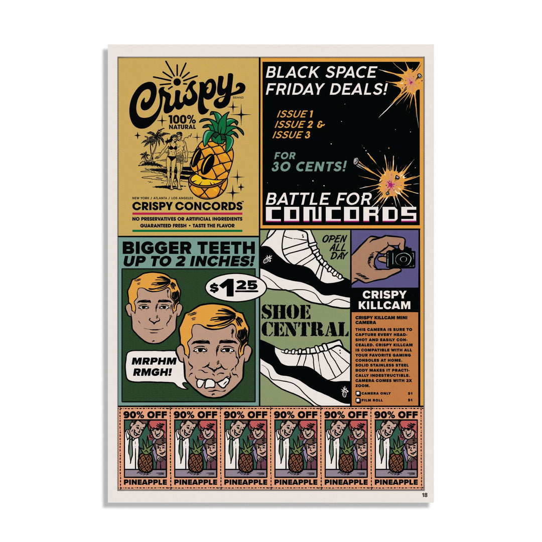 CRISPY CONCORDS® | NEWSPRINT POSTER