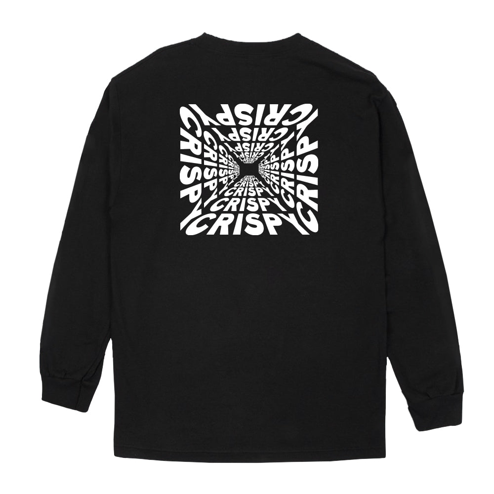 CRISPY CONCORDS® | LOGO LONG SLEEVE TEE (BLACK)