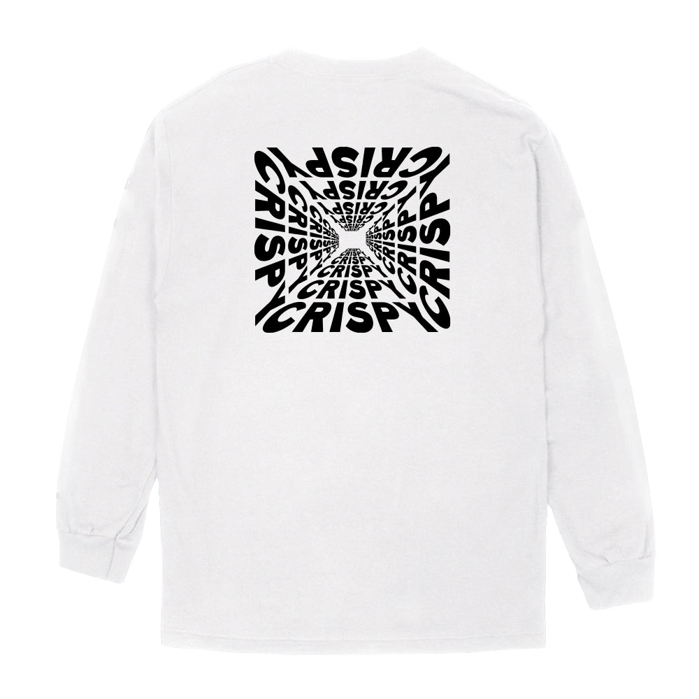 CRISPY CONCORDS® | LOGO LONG SLEEVE TEE (WHITE)