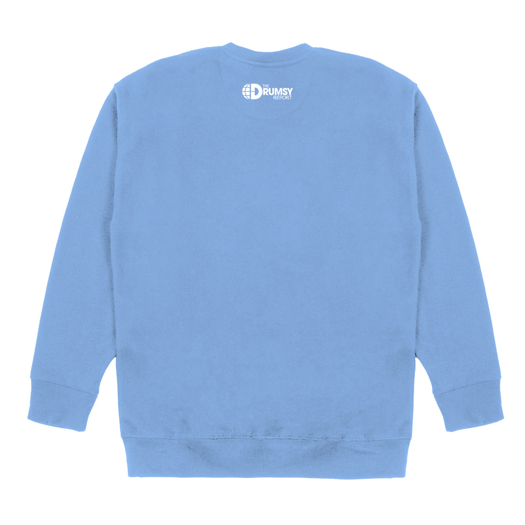 DRUMSY® | PUFF PRINT BROOKE CREWNECK (PIGMENT LIGHT BLUE) LIMITED EDITION