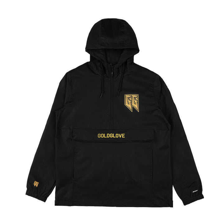 GOLDGLOVE® | GOLD BEVEL WINDBREAKER ANORAK JACKET (BLACK) LIMITED EDITION