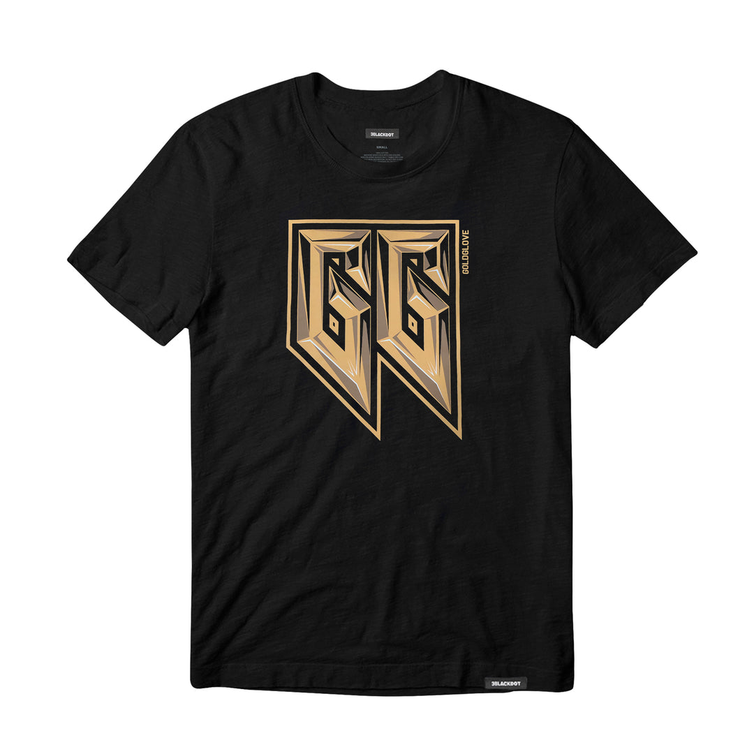 GOLDGLOVE® | GOLD BEVEL TEE (BLACK)