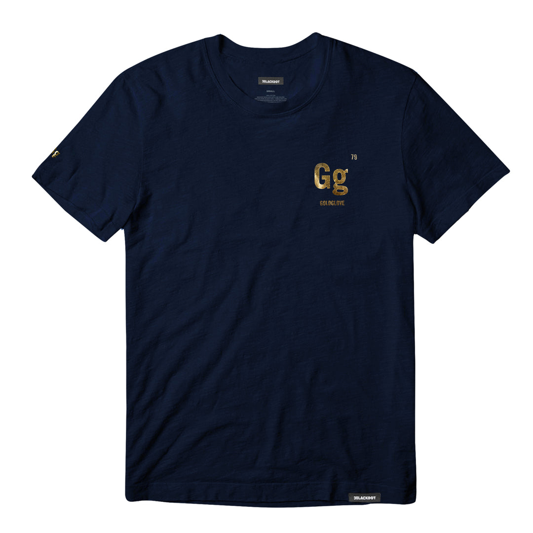 GOLDGLOVE® | GOLD SHIMMER ATOM TEE (NAVY) LIMITED EDITION