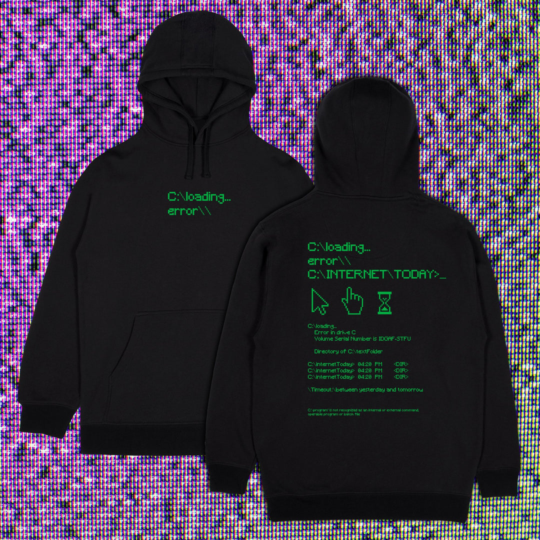 INTERNET TODAY® | ERROR HOODIE (BLACK) LIMITED EDITION
