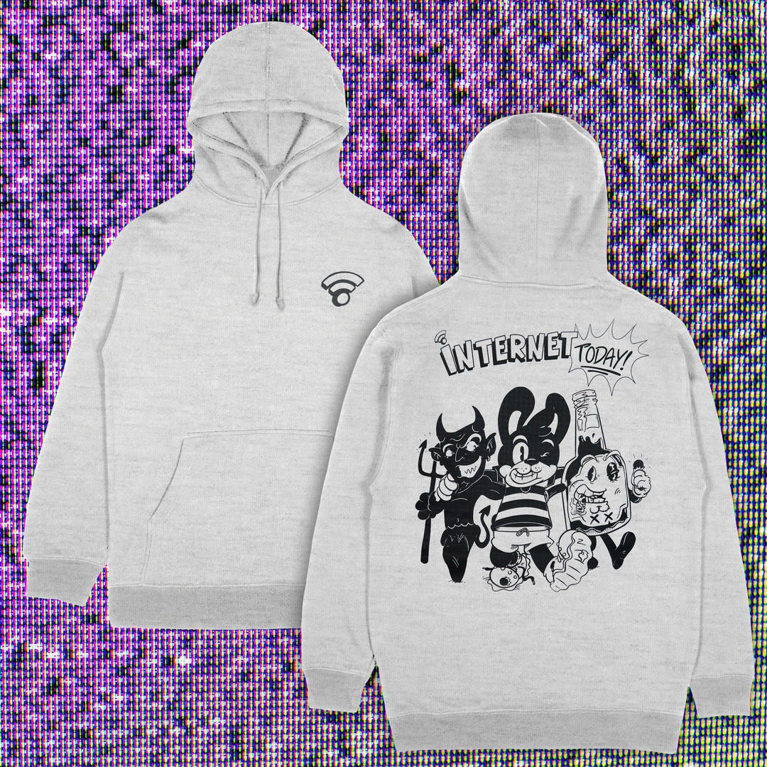 INTERNET TODAY® | SINS HOODIE (HEATHER GREY) LIMITED EDITION