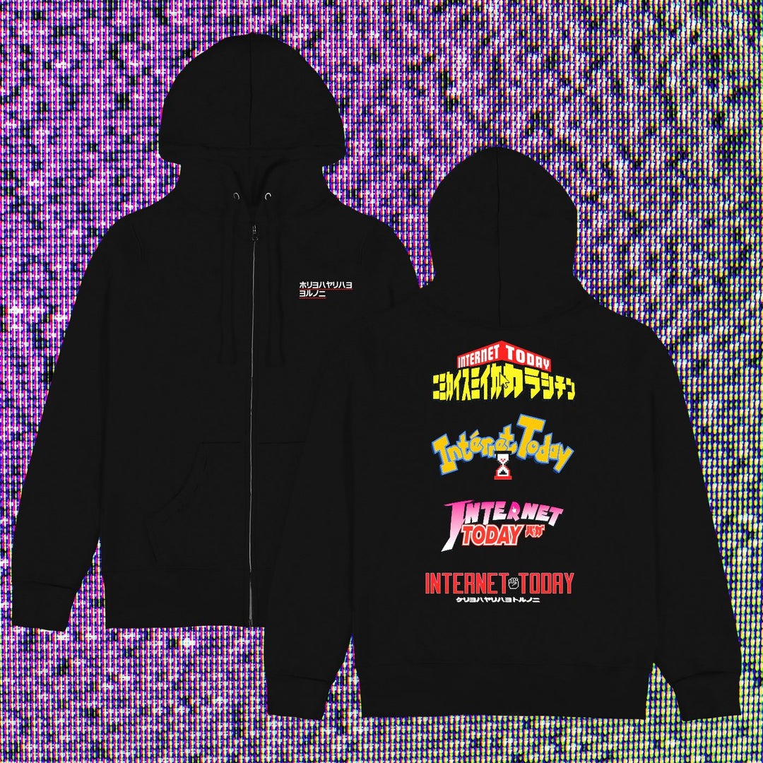 INTERNET TODAY® | ANIME ZIP-UP HOODIE (BLACK) LIMITED EDITION